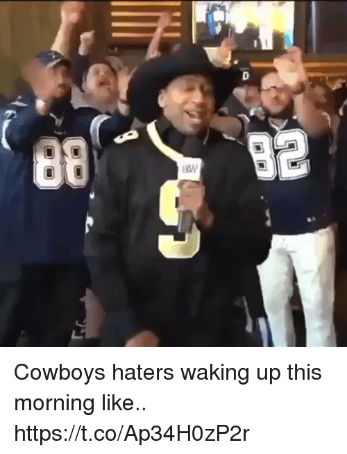 Dallas Cowboys, Football, and Nfl: Cowboys haters waking up this morning like.. https://t.co/Ap34H0zP2r