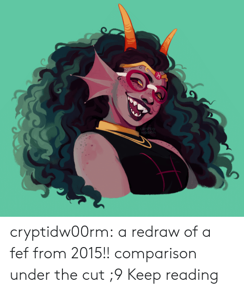 Target, Tumblr, and Blog: CRUPTID  WOORM cryptidw00rm: a redraw of a fef from 2015!! comparison under the cut ;9 Keep reading