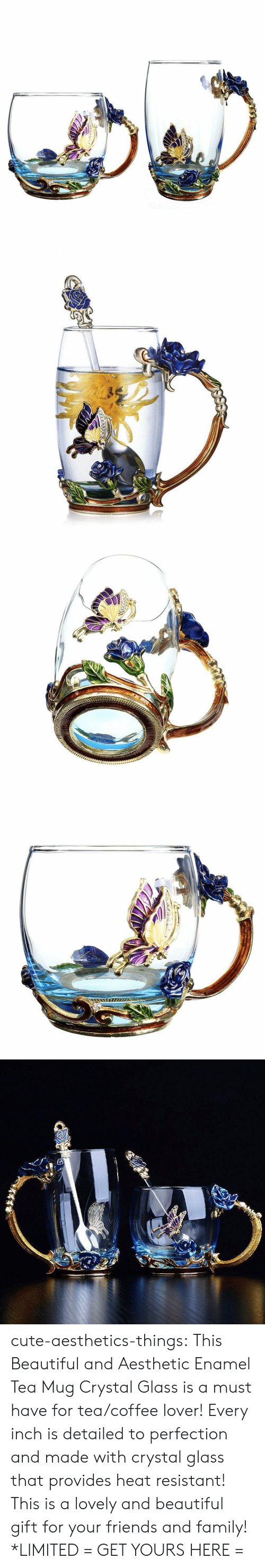 Beautiful, Cute, and Family: cute-aesthetics-things: This Beautiful and Aesthetic Enamel Tea Mug Crystal Glass is a must have for tea/coffee lover! Every inch is detailed to perfection and made with crystal glass that provides heat resistant! This is a lovely and beautiful gift for your friends and family! *LIMITED = GET YOURS HERE =
