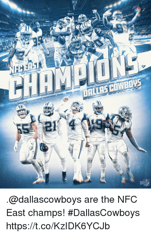Memes, Nfl, and 🤖: DALLASCOWBOWS  Ca  NFL .@dallascowboys are the NFC East champs! #DallasCowboys https://t.co/KzIDK6YCJb