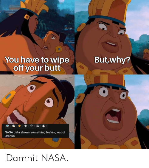 NASA: Damnit NASA.