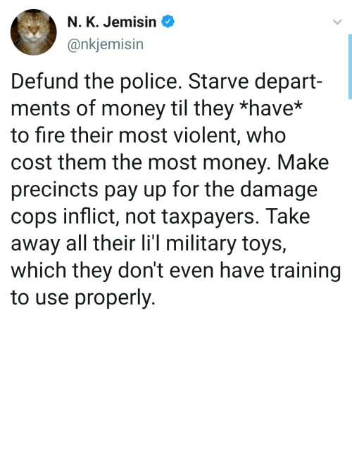 Out Of: Defund them, make them pay out of their own pockets by bluntbutnottoo MORE MEMES