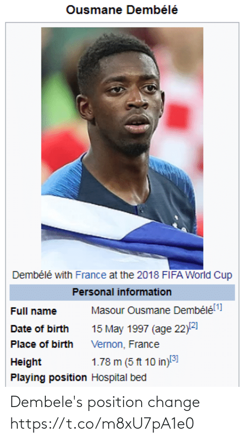 Change: Dembele's position change https://t.co/m8xU7pA1e0