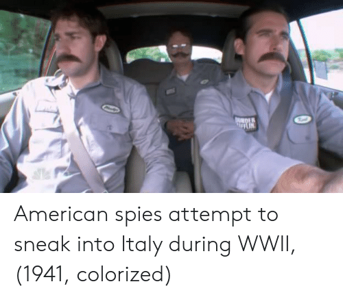 wwii: DER American spies attempt to sneak into Italy during WWII, (1941, colorized)