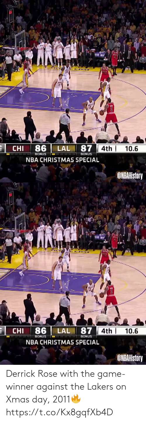 The Game: Derrick Rose with the game-winner against the Lakers on Xmas day, 2011🔥  https://t.co/Kx8gqfXb4D