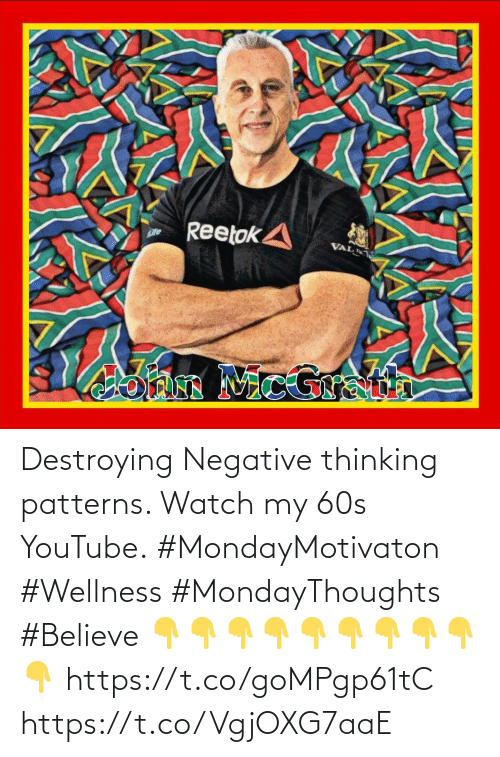 Love for Quotes: Destroying Negative thinking patterns. Watch my 60s YouTube.  #MondayMotivaton #Wellness #MondayThoughts #Believe   👇👇👇👇👇👇👇👇👇👇  https://t.co/goMPgp61tC https://t.co/VgjOXG7aaE