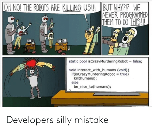 mistake: Developers silly mistake