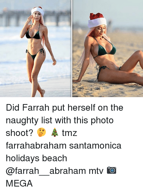 MTV: Did Farrah put herself on the naughty list with this photo shoot? 🤔 🎄 tmz farrahabraham santamonica holidays beach @farrah__abraham mtv 📷MEGA