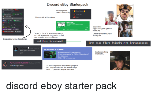 Discord eBoy Starterpack Rerl Sits in a Private Room Hours a