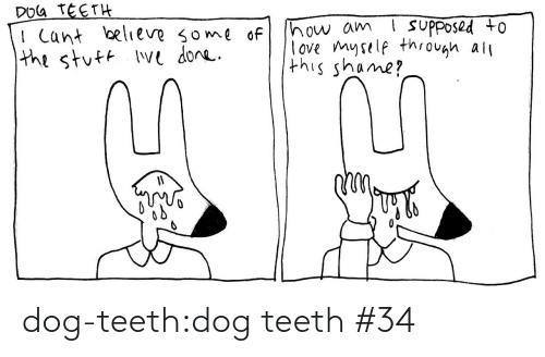 i cant: DOG TEETH  I Cant believe some of  the stuft Ive done.  ! suPposed to  how am  love myself through all  this shame? dog-teeth:dog teeth #34