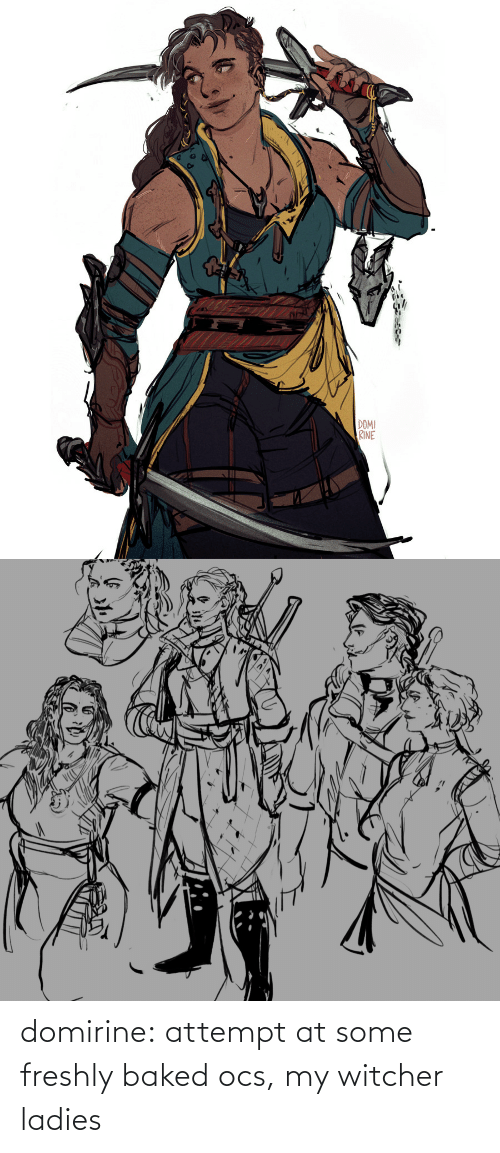 At: domirine:  attempt at some freshly baked ocs, my witcher ladies