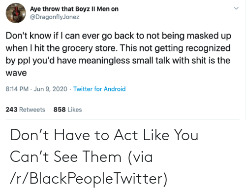 blackpeopletwitter: Don't Have to Act Like You Can't See Them (via /r/BlackPeopleTwitter)