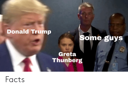 Donald Trump, Facts, and Trump: Donald Trump  Some guys  Greta  Thunberg Facts