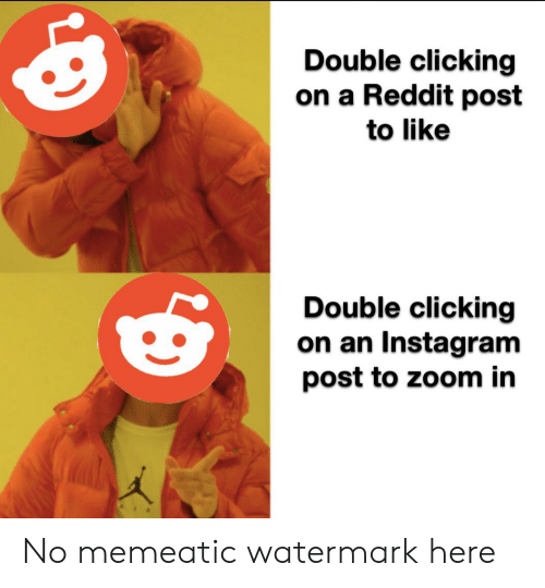 Double Clicking on a Reddit Post to Like Double Clicking on
