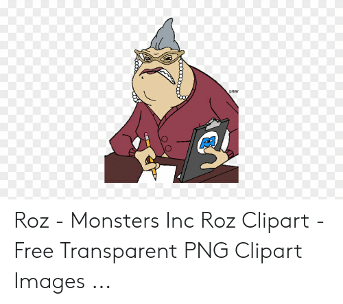 DWW Roz - Monsters Inc Roz Clipart - Free Transparent PNG