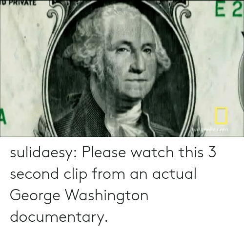 Target, Tumblr, and Blog: E 2  PRIVATE sulidaesy: Please watch this 3 second clip from an actual George Washington documentary.
