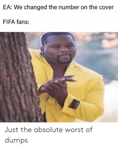 Dumps: EA: We changed the number on the cover  FIFA fans: Just the absolute worst of dumps