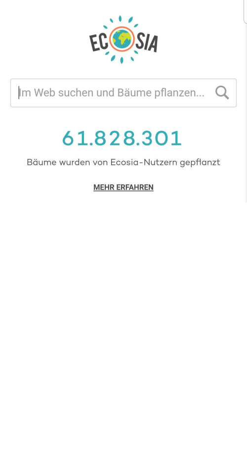 Dank, Google, and Money: EC SIA  Im Web suchen und Bäume pflanzen... Q  61.828.301  Bäume wurden von Ecosia-Nutzern gepflanzt  MEHR ERFAHREN Fellow Dank Memers, we have to do something for mother earth. I have found the easiest way to do it. Use ECOSIA as a search engine, unlike google or bing they are a non profit company, wich use their money to plant trees. Everybody can do something! Together we can be the number one!
