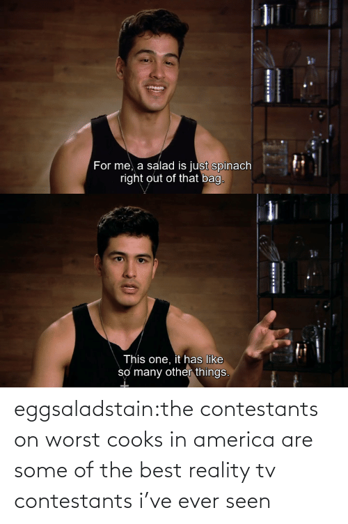 America: eggsaladstain:the contestants on worst cooks in america are some of the best reality tv contestants i've ever seen