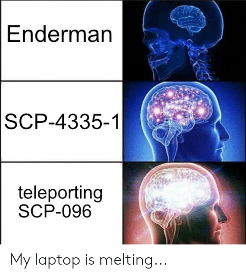Enderman SCP-4335-1 Teleporting SCP-096 My Laptop Is Melting