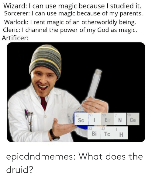 Does: epicdndmemes:  What does the druid?