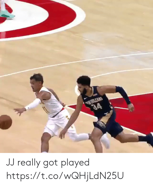 Basketball, White People, and Got: ERLEANS  34 JJ really got played https://t.co/wQHjLdN25U