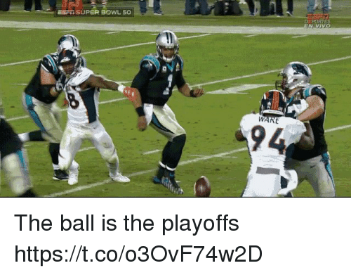 Football, Nfl, and Sports: ESPI SUPER BOWL 50  94 The ball is the playoffs https://t.co/o3OvF74w2D