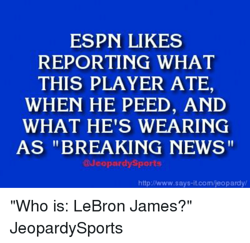 Is Lebron James