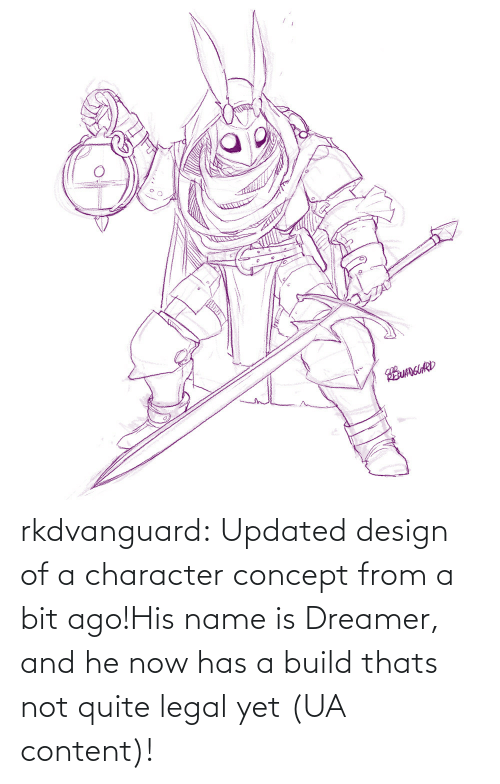 Tumblr, Blog, and Quite: EUANGUARD rkdvanguard:  Updated design of a character concept from a bit ago!His name is Dreamer, and he now has a build thats not quite legal yet (UA content)!