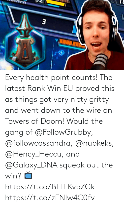 doom: Every health point counts!  The latest Rank Win EU proved this as things got very nitty gritty and went down to the wire on Towers of Doom!  Would the gang of @FollowGrubby, @followcassandra, @nubkeks, @Hency_Heccu, and @Galaxy_DNA squeak out the win?   📺https://t.co/BTTFKvbZGk https://t.co/zENIw4C0fv