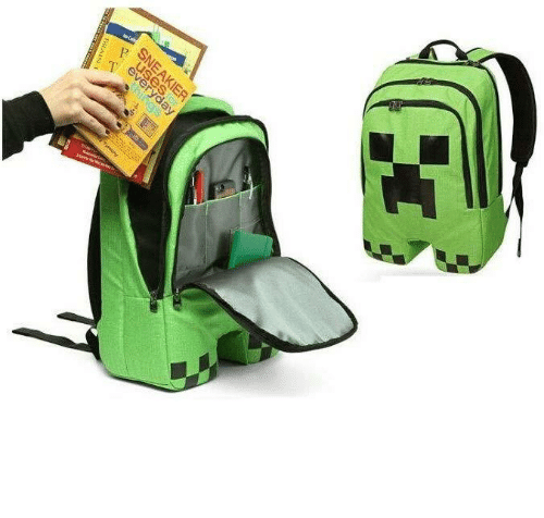 minecraft: every  SNEAKIER  BRAIS  hings novelty-gift-ideas:    Minecraft Creeper Backpack