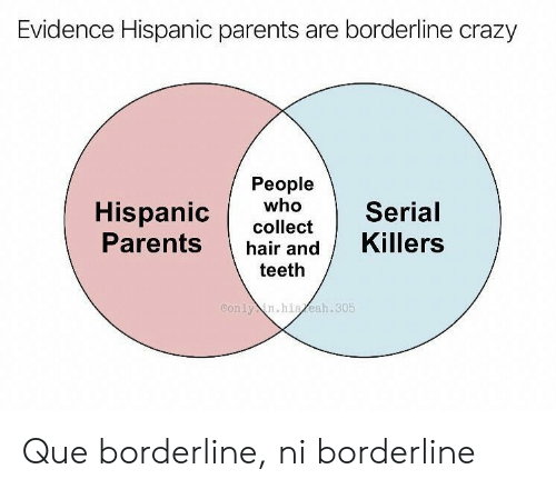 killers: Evidence Hispanic parents are borderline crazy  People  who  Hispanic  Parents  Serial  collect  Killers  hair and  teeth  Conly in.hiaeah.305 Que borderline, ni borderline