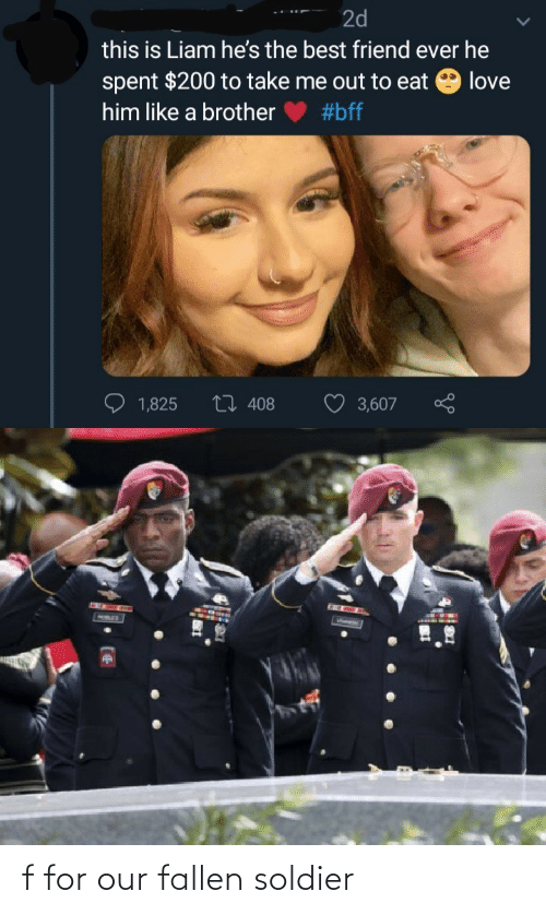 Our: f for our fallen soldier