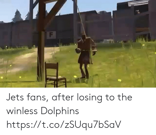 Sports, Dolphins, and Jets: F Jets fans, after losing to the winless Dolphins https://t.co/zSUqu7bSaV