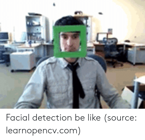 Be Like, Com, and Source: Facial detection be like (source: learnopencv.com)