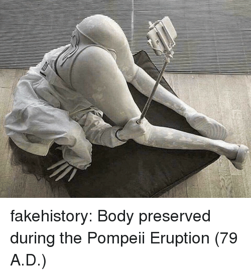 Target, Tumblr, and Blog: fakehistory: Body preserved during the Pompeii Eruption (79 A.D.)