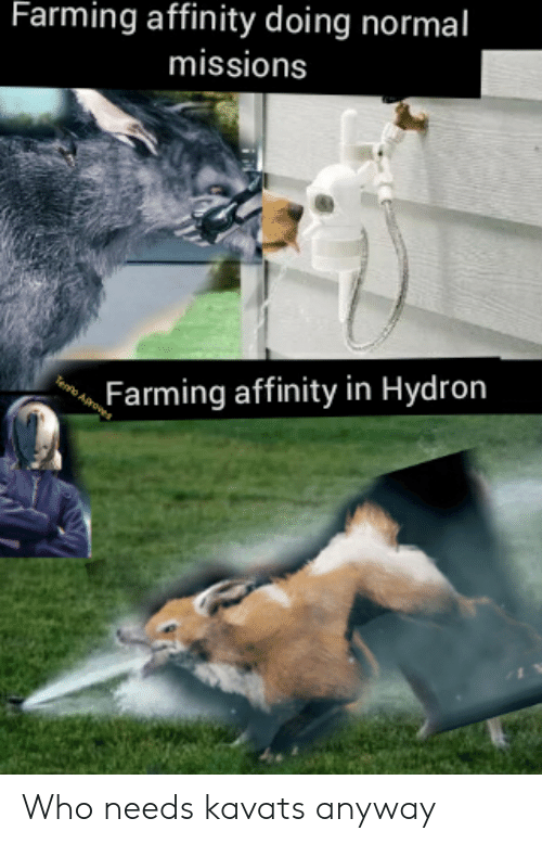 Farming, Who, and Normal: Farming affinity doing normal  missions  Tenfo Aroves  Farming affinity in Hydron Who needs kavats anyway