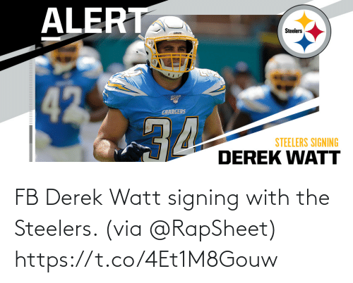 via: FB Derek Watt signing with the Steelers. (via @RapSheet) https://t.co/4Et1M8Gouw