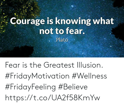 Love for Quotes: Fear is the Greatest Illusion.  #FridayMotivation #Wellness  #FridayFeeling #Believe https://t.co/UA2f58KmYw