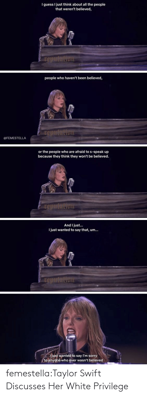 playing: femestella:Taylor Swift Discusses Her White Privilege