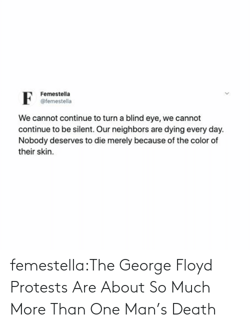 In Response: femestella:The George Floyd Protests Are About So Much More Than One Man's Death