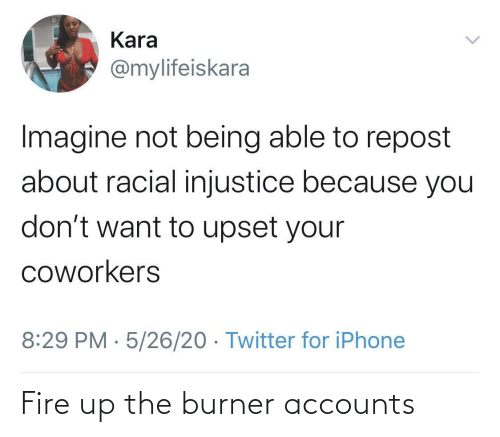 Fire: Fire up the burner accounts