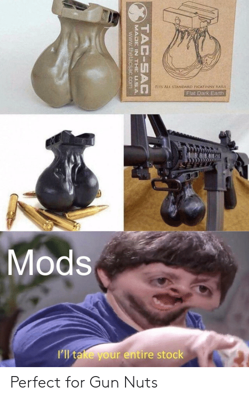 """Earth, Gun, and Dark: """"FITS ALL STANDARD PICATİNNY RAILS  Flat Dark Earth  Mods  I'll take your entire stock Perfect for Gun Nuts"""