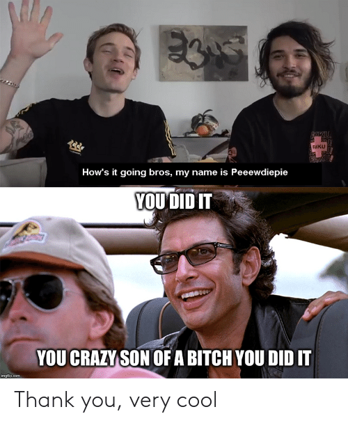 you son of a bitch you did it