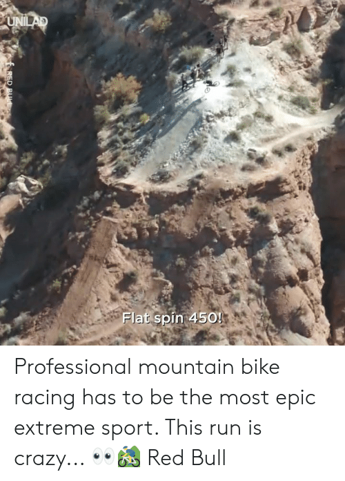 Crazy, Dank, and Red Bull: Flat spin 450! Professional mountain bike racing has to be the most epic extreme sport. This run is crazy... 👀🚵♂️  Red Bull