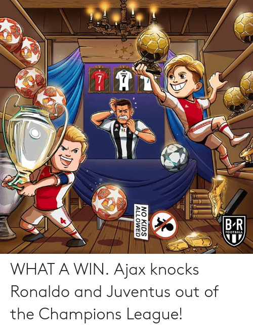 Football, Champions League, and Juventus: FOOTBALL WHAT A WIN.  Ajax knocks Ronaldo and Juventus out of the Champions League!