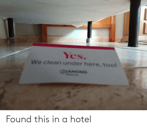 this: Found this in a hotel