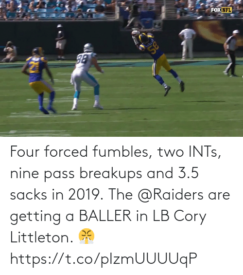 pass: Four forced fumbles, two INTs, nine pass breakups and 3.5 sacks in 2019.  The @Raiders are getting a BALLER in LB Cory Littleton. 😤 https://t.co/pIzmUUUUqP