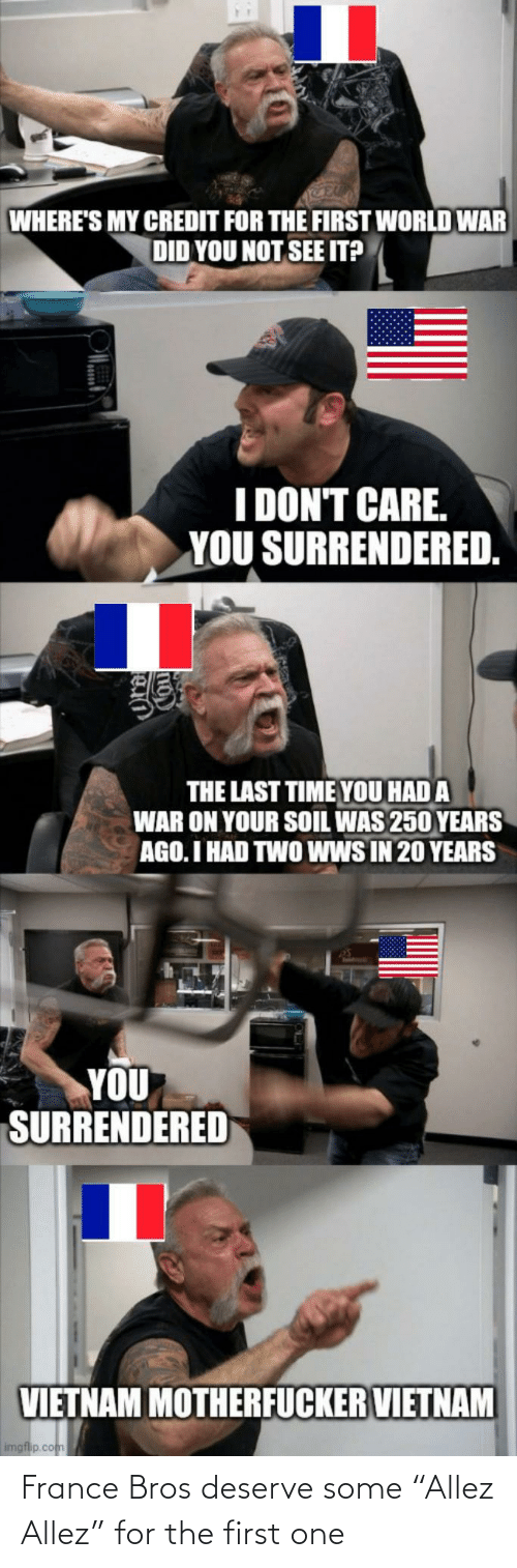 """The First: France Bros deserve some """"Allez Allez"""" for the first one"""