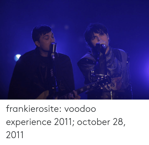 Google, Tumblr, and Blog: frankierosite:   voodoo experience 2011; october 28, 2011